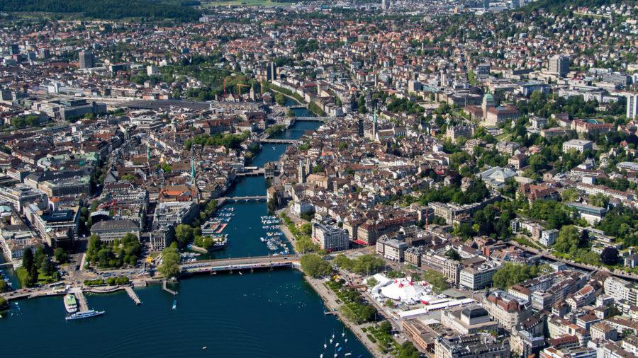 Luftaufnahme Zürich